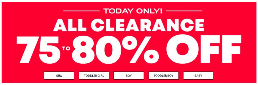 75% to 80% Off The Children's Place Clearance Sale + Free Shipping