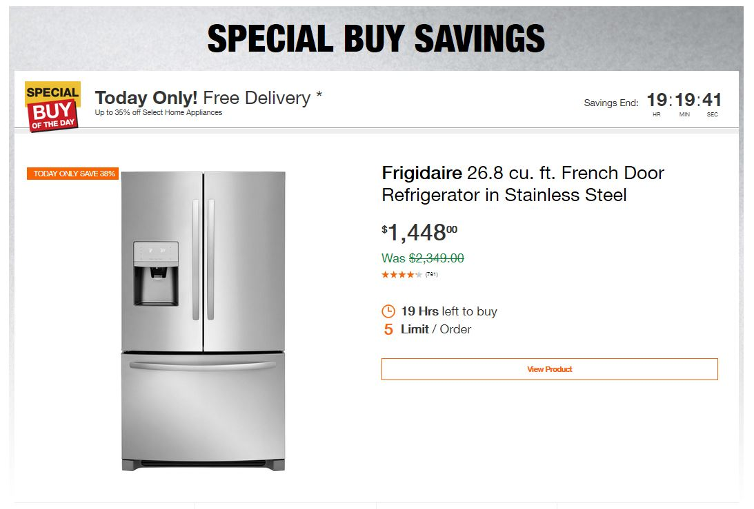 Home Depot Deals - Up to 35% off Select Home Appliances