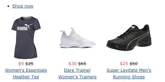 Puma Private Sale Up to 75% Off + Free Shipping