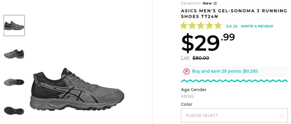 Buy ASICS Men's/Women's Sonoma Shoes only $24 + Free Shipping