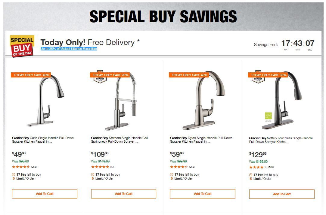 Home Depot Deals - Up to 35% off Select Kitchen Essentials
