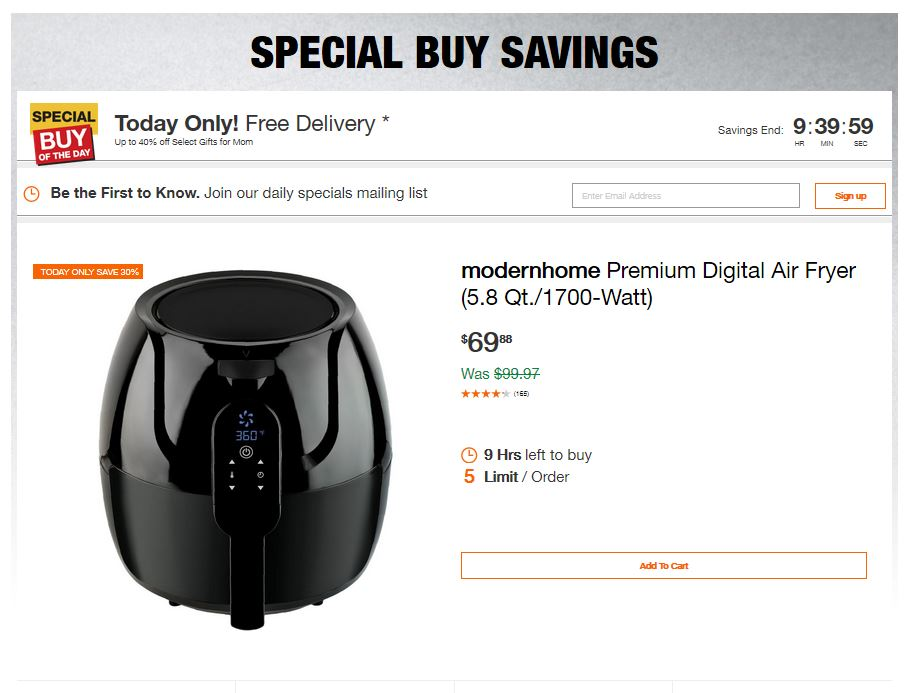 Home Depot Deals – Up to 40% off Select Gifts for Mom – Mothers Day 2019 Deals