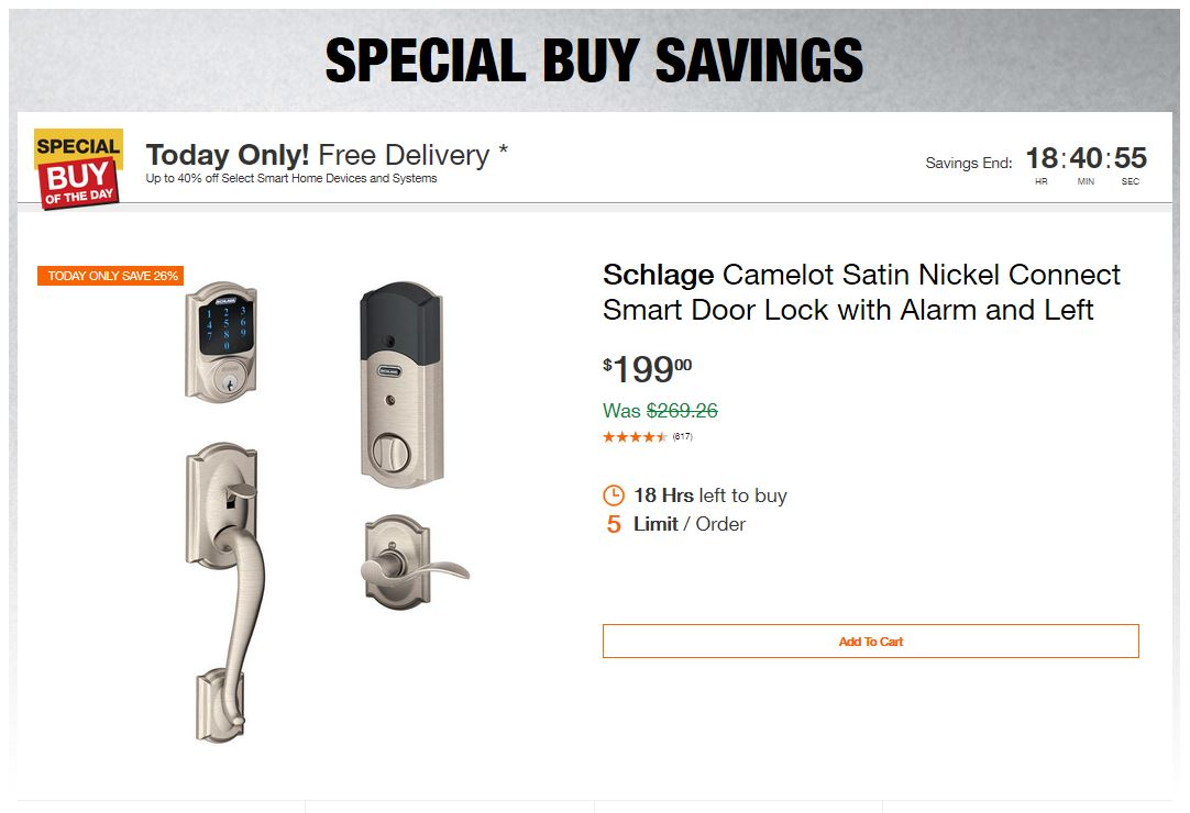 Home Depot Deals – Up to 40% off Select Smart Home Devices and Systems