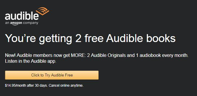 Free Audible 3-Month Trial Membership with Amazon Prime