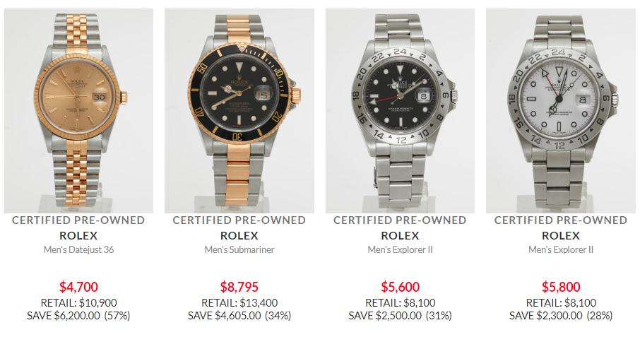 Up to 57% OFF Used Rolex Men's Watches at Ashford