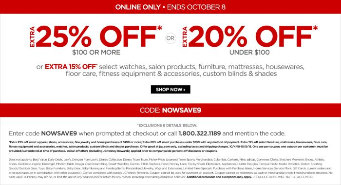 JCPenney Coupon – Save Up to 25% OFF $100 plus Free Shipping