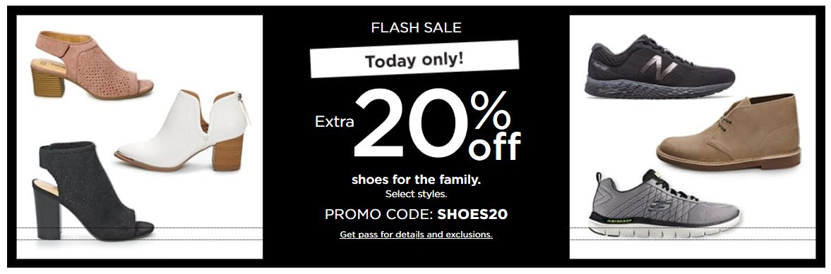 Kohl's Coupons: Extra 20% OFF Shoes For The Family February 2019