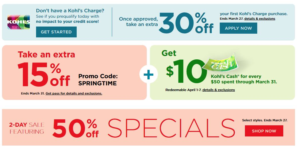 Kohls Coupons Extra 15% Off Your Purchase March 2019