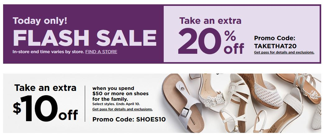 Kohl's Coupons: Extra $10 Off $50 Family Shoes April 2019