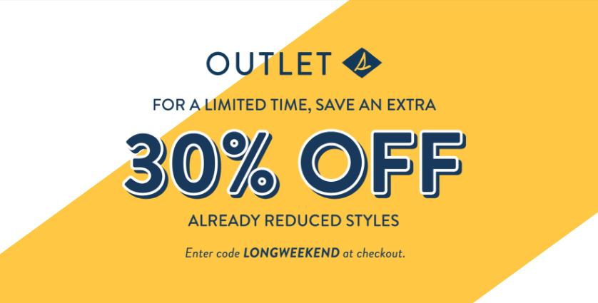 Save Up 35% OFF Sperry Outlet plus Free Shipping